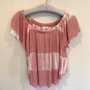 Lush off the shoulder tie dye top